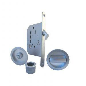 Bathroom Sliding Door Kit - Satin Chrome