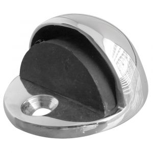 Shielded Oval Door Stop - Polished Chrome