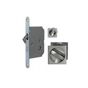 Bathroom Sliding Door Locks - Satin Chrome