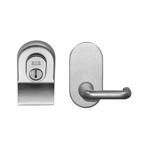 Security Cylinder Pull With Mini Lever - Polished Chrome