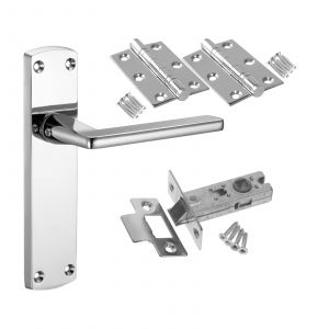 Leon - Latch Door Pack - POLISHED CHROME