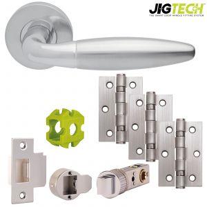 Jigtech Parma Door Packs - Passage - Polished Chrome/Satin Chrome