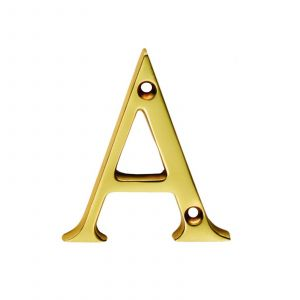 Face Fix Letters - Polished Brass