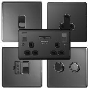 Nexus Flatplate Screwless Range - Black Nickel