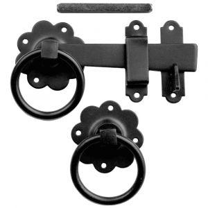 1136 Ring Gate Latch - Epoxy Black