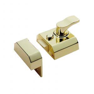 Rim Cylinder Deadlocking Nightlatch - 40mm - Electroplated Brass