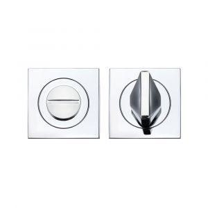 Turn & Release Square Rose - Rosso Maniglie - Polished Chrome
