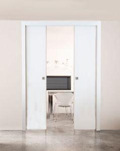 Scrigno Pocket Door System installed with Doors