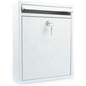 Sterling Compact Post Box - White