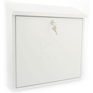 Sterling Contemporary Post Box - White