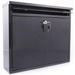 Sterling Elegance Post Box - Black