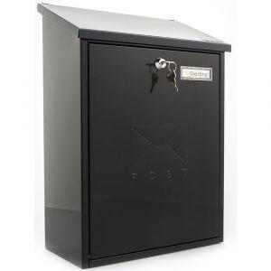 Sterling Grand Post Box - Black