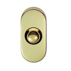 Oblong Bell Push - PVD Brass