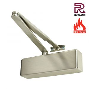 Rutland TS3204 Power Size 3 Door Closers - With Cover - Satin Nickel