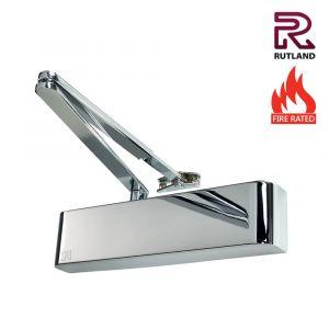 Rutland TS5204BC Power Size 2-4 Door Closers - Polished Nickel