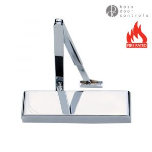 Boss TS5.225 Architectural Slimline Overhead Door Closers Size 2-5 - Polished Chrome
