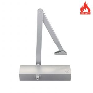 Overhead Door Closer Size 2-5 with Cover - Silver