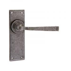 Valley Forge Door Handle - Latchset - Pewter
