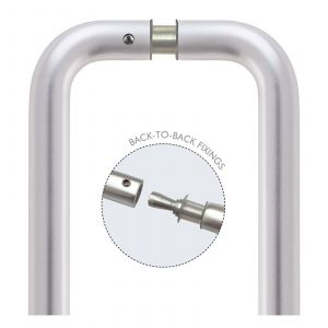 D Pull Handle - Satin Aluminium - Pairs