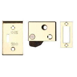 Hush Latch - 65mm x 40mm - Electro Brass