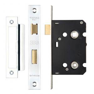 "Bathroom Lock - 2.5"" - Polished Stainless"
