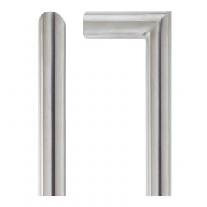 Mitred Pull Handle - Grade 201 - Satin Stainless