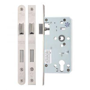 DIN Euro Sash Lock 55mm - Satin Stainless