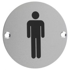 Male WC Symbol 76mm Signage