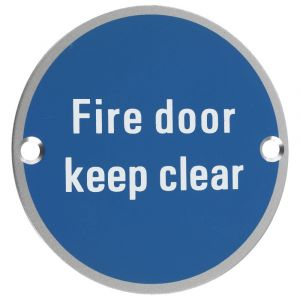 Fire Door Keep Clear Symbol - 76mm Signage