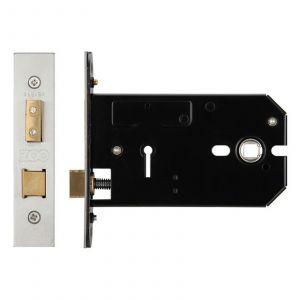 3 Lever Horizontal Lock - 152mm - Keyed Alike - Satin Stainless
