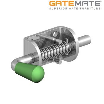Gatemate Spring Loaded Bolt with Shirt Body - Zinc Plated with Glow in the Dark Handle