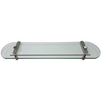 Glass Shelf with Satin Stainless Steel Brackets