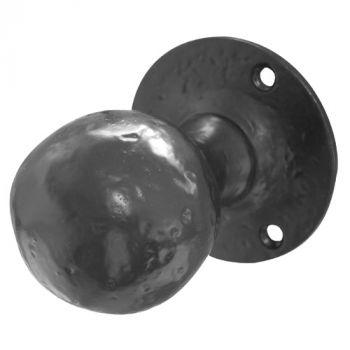 Ball Shaped Mortice Door Knob - Black Antique