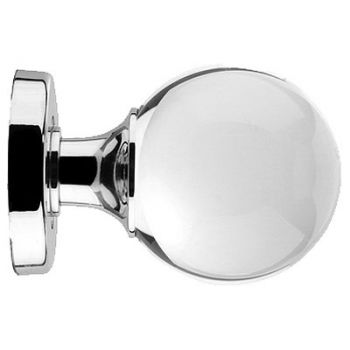 Ball Shaped Glass Mortice Knob