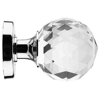 Faceted Glass Mortice Knob