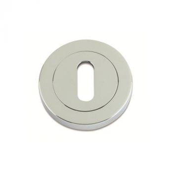 Zoo Plus Zinc Keyhole Cover - Satin Chrome