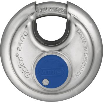 ABUS 24IB/70 Weatherproof Discus PadLock Keyed to Differ - 70mm