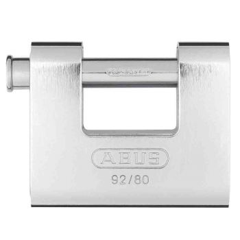 ABUS 92/80 Stainless Steel Shutter PadLock Keyed to Differ - 75mm
