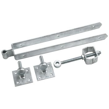 133 Adjustable Field Gate Set on 4inch x 4inch Plates 600mm / 24inch - Galvanised