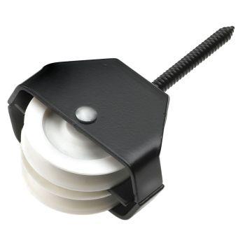 40 - 42N Double Screw Pulley 44mm / 1.3/4inch - Epoxy Black