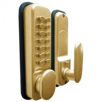 Digital Push Button Code Lock - Polished Brass