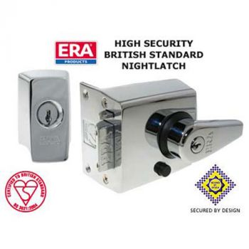 Era High Security Night Latch - Polished Chrome