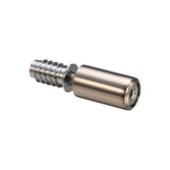 Fulton and Bray 29mm Roller Sash Stop - Polished Nickel