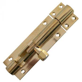 Light Straight Barrel Bolts - Polished Brass
