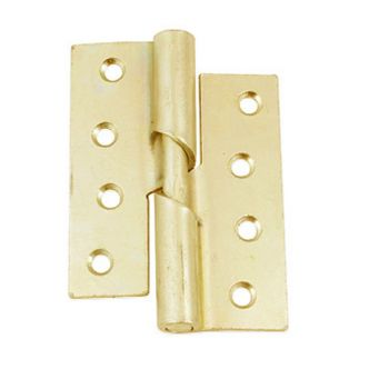 4 Inch Steel Rising Butt Hinge - Right Hand - Electroplated Brass