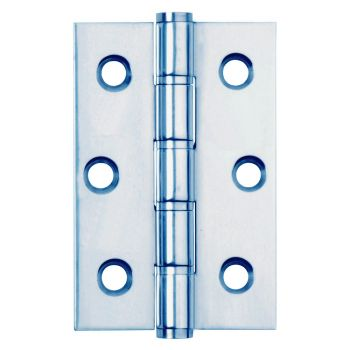 3 Inch Stainless Steel Washered Hinges - Polished Chrome