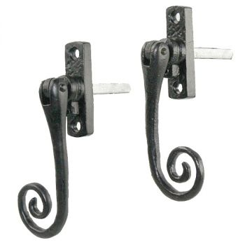 Curly Espagnolette Window Fastener - Black Antique