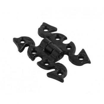 Fancy Butterfly Hinges - Black Antique