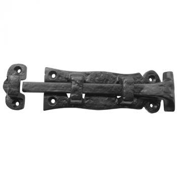Solid Straight Door Bolt - Black Antique