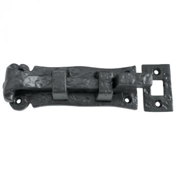 Solid Necked Door Bolt 125mm - Black Antique